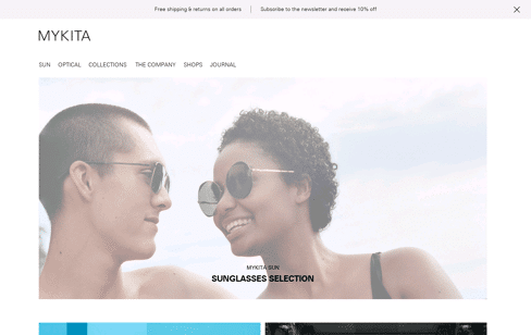 MYKITA Web Design