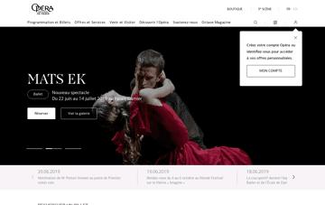Opéra national de Paris Web Design