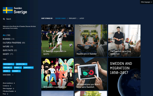 sweden.se | The official site of Sweden Web Design