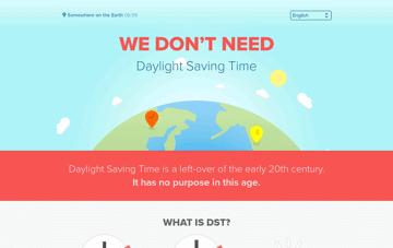 We Don't Need Daylight Saving Time Web Design