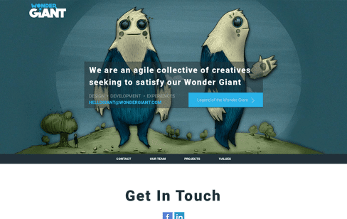 Wonder Giant Web Design
