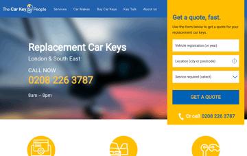 The Car Key People Web Design