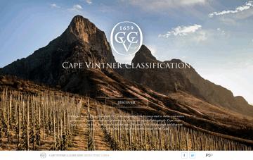 Cape Vintner Classification Web Design