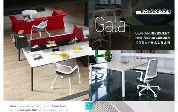 Gala Chair Web Design