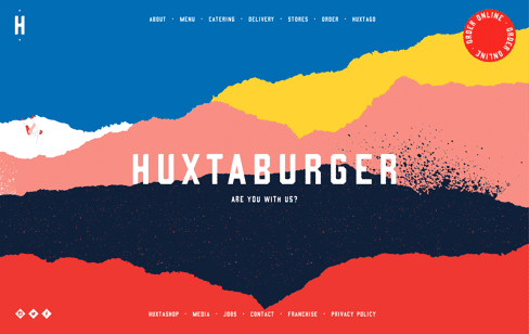 Huxtaburger Web Design