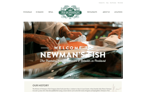 Newman's Fish Web Design