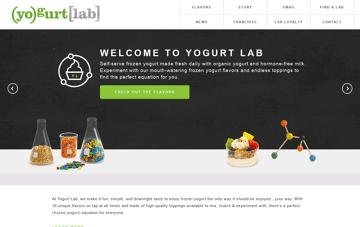 Yogurt Lab: Frozen Yogurt Shops Web Design
