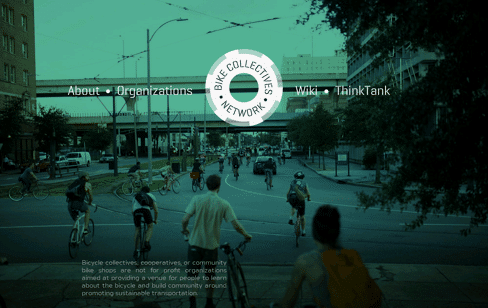 Bike Collectives Network Web Design