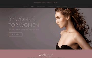 Aesthetic Breast Surgery Centre Web Design