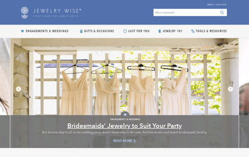 Jewelry Wise Web Design