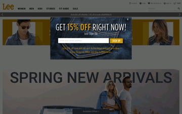 Lee Jeans - Modern Man Web Design
