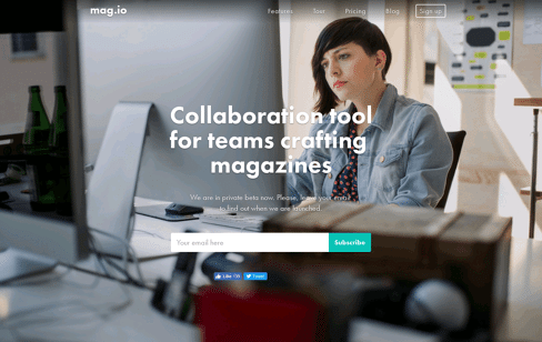 Mag.io & Collaboration tool for teams crafting magazines. Web Design