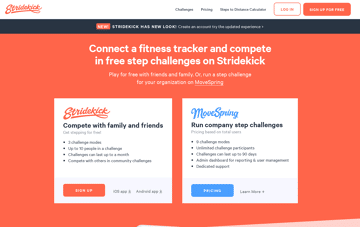 Stridekick Fitness Web Design