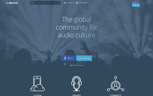 Mixcloud Web Design