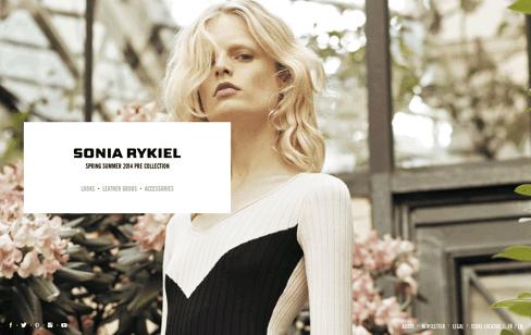 Sonia Rykiel Web Design