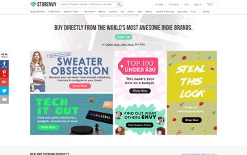 Storenvy Web Design