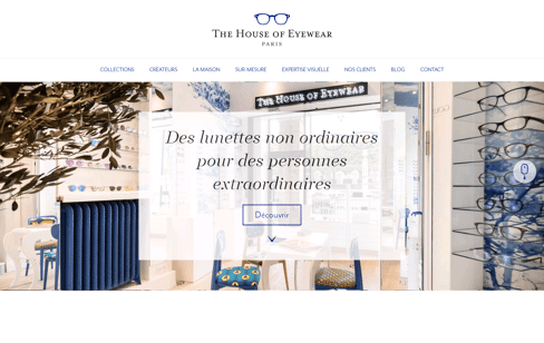 Opticien The House Of Eyewear Web Design