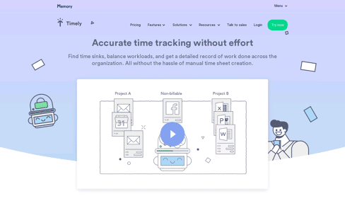 Timely Time Tracking Web Design