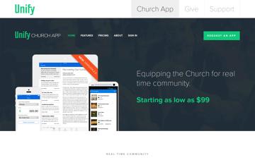 Unify: Church App Web Design