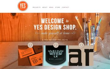 Yes Design Shop Web Design