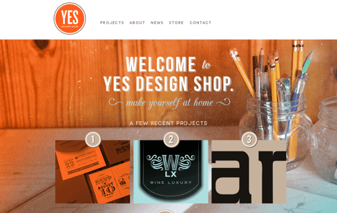 Yes Design Shop Web Design