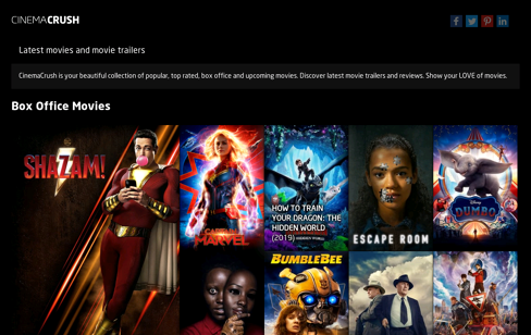 CinemaCrush Web Design