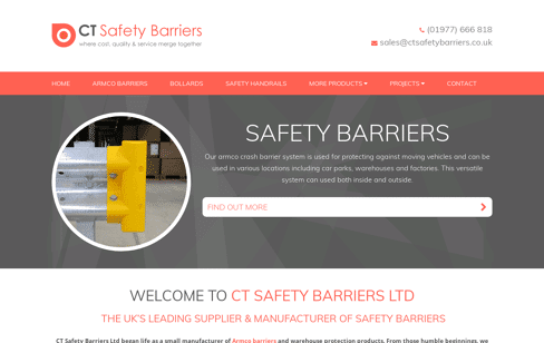 CT Safety Barriers Web Design