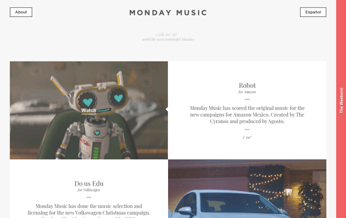 Monday Music Web Design