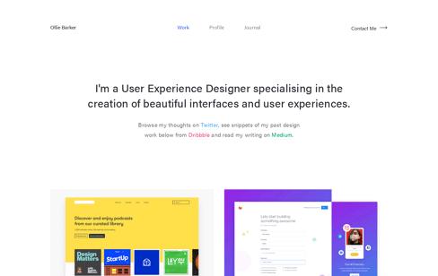 Ollie Barker Web Design