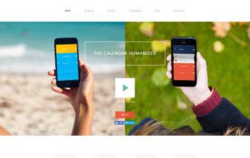 Peek Calendar Web Design