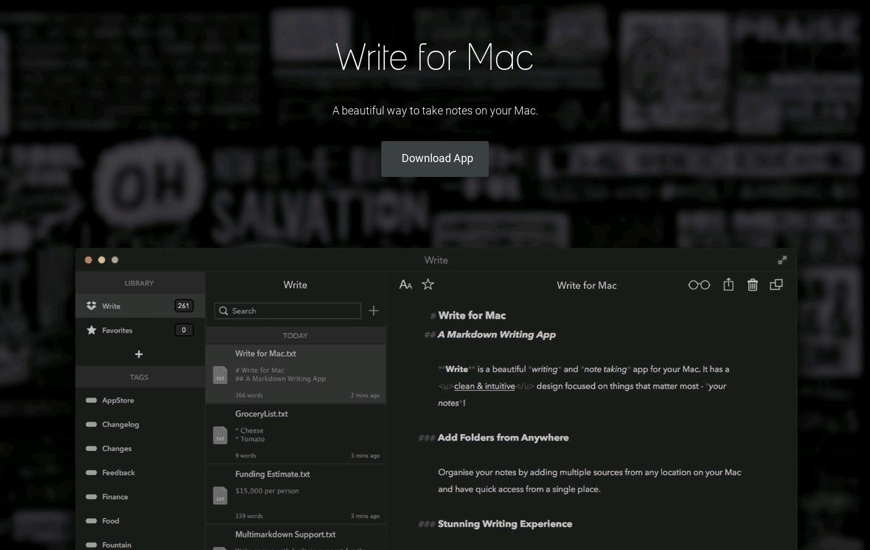Write for Mac
