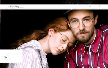 Andy Wolf Eyewear Web Design