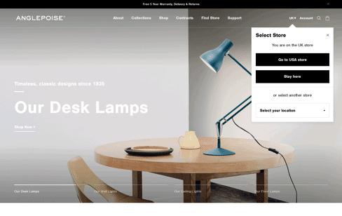 Anglepoise® Web Design