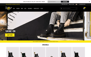 Dr. Martens Official Web Design