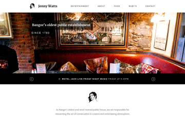 Welcome to Jenny Watts Bar, located in the heart of Bangor's nightlife | Jenny Watts Bar Web Design