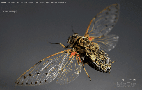 MeCre - Mechanical Creatures Web Design