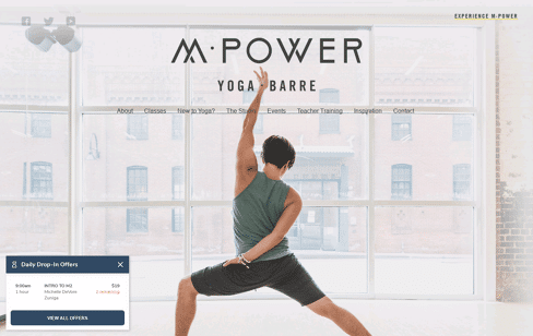 M·Power Yoga Web Design