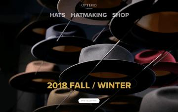 Optimo Hats Web Design