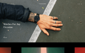Throne Watches Web Design