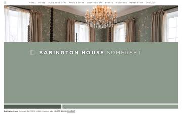 Babington House Web Design