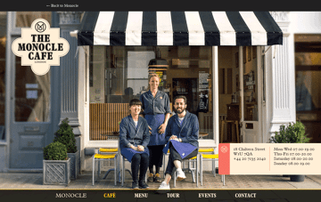 The Monocle Café Web Design