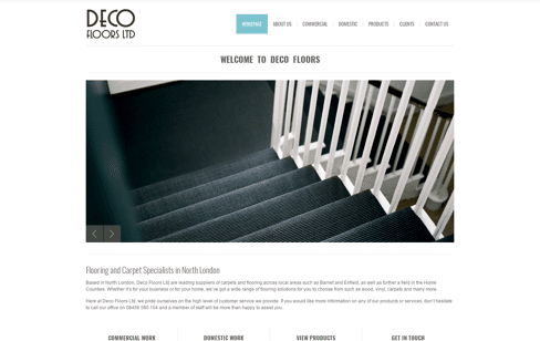 Deco Floors Web Design
