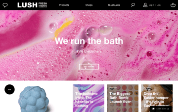 Lush Fresh Handmade Cosmetics Web Design