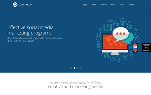 Sculpt Media Web Design
