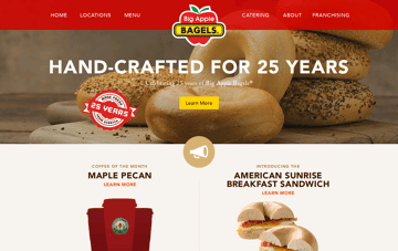 Big Apple Bagels Web Design