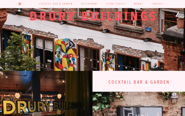 Drury Buildings Restaurant in Dublin Web Design