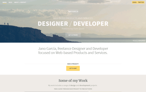 Jano García - Designer / Developer     Web Design
