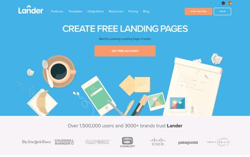 Lander  Landing Page Web Design