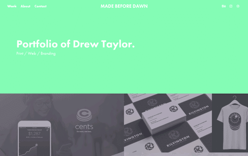Made Before Dawn Web Design