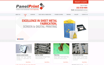 Panelprint – Leading Australian Printing Company Web Design